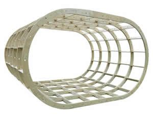 Oval Glamping Pod Frame Kit 4000mm x 4000mm